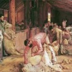 Tom Roberts' Shearing the rams, 1890.